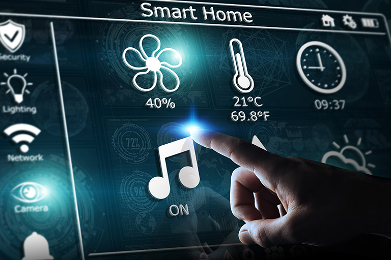 Mulitmedia-Kontrolle im Smart Home